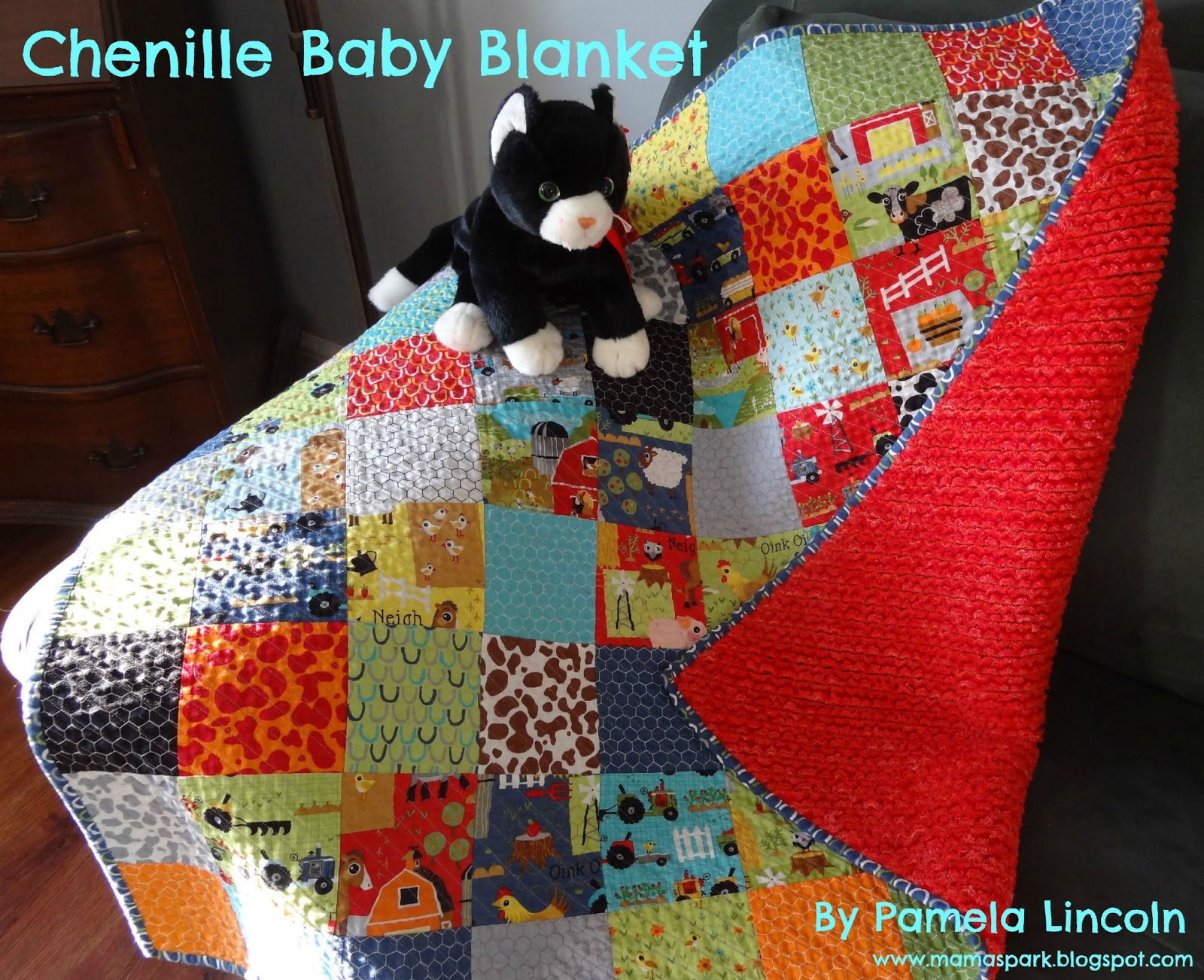 i am so happy and excited to be back at the moda bake shop to show you this wonderful chenille blanket my name is pamela lincoln and i blog over at mama - Chenille Blanket