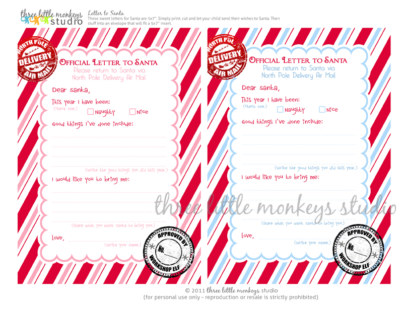 Letters From Santa North Pole {free} letters to santa