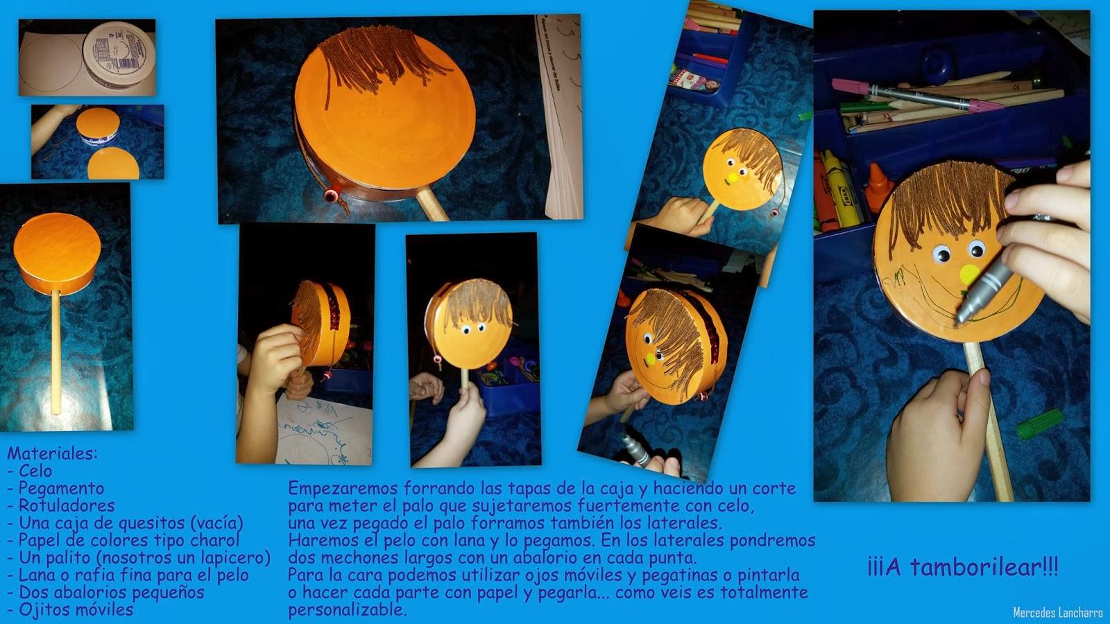 hoy cómo hacer un tamboril con material reciclado facilísimo con