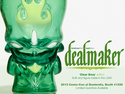 San Diego Comic-Con 2013 Exclusive Clear Envy Dealmaker Vinyl Figure by Andrew Bell
