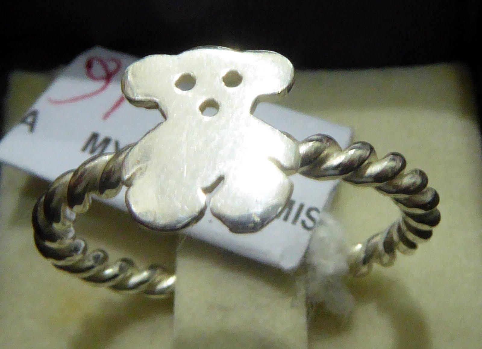 Sortija de plata con el oso