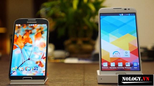 Samsung Galaxy S4 và LG Optimus G Pro