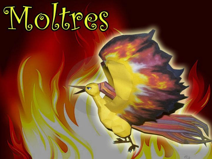 Pokemon Moltres Papercraft