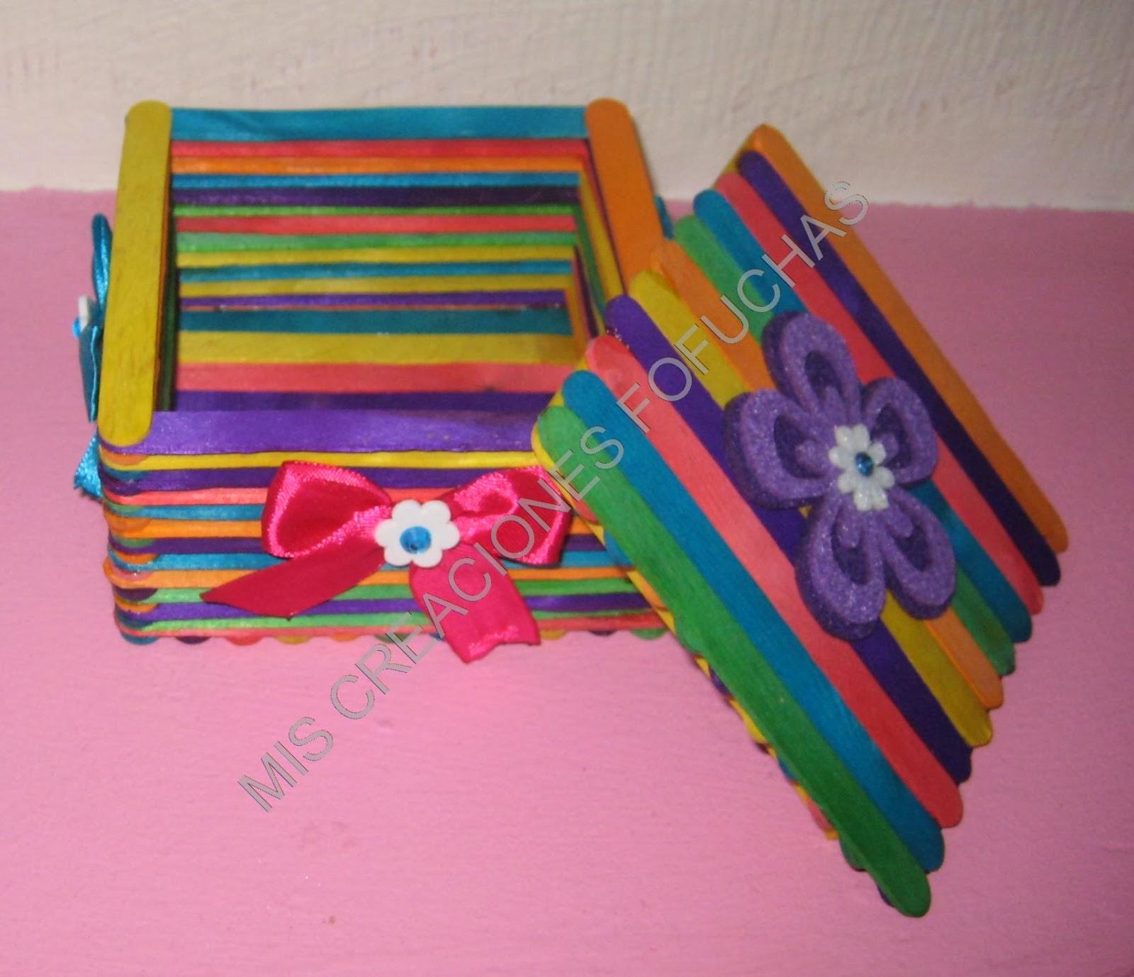 Mis creaciones fofuchas cajitas joyeros hechas con - Como hacer un joyero de madera ...