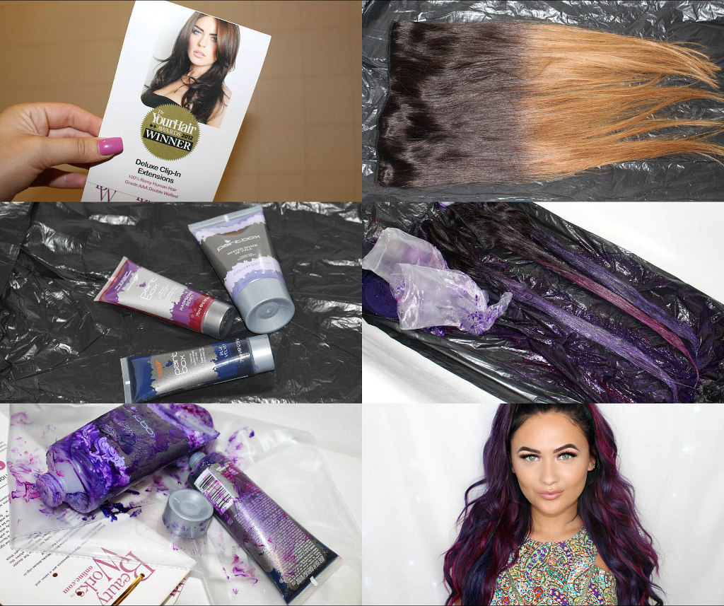 Dying My Hair Extensions At Home Itssabrina