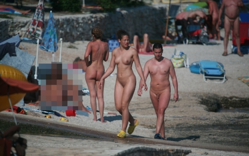 Mykonos nude beach photo
