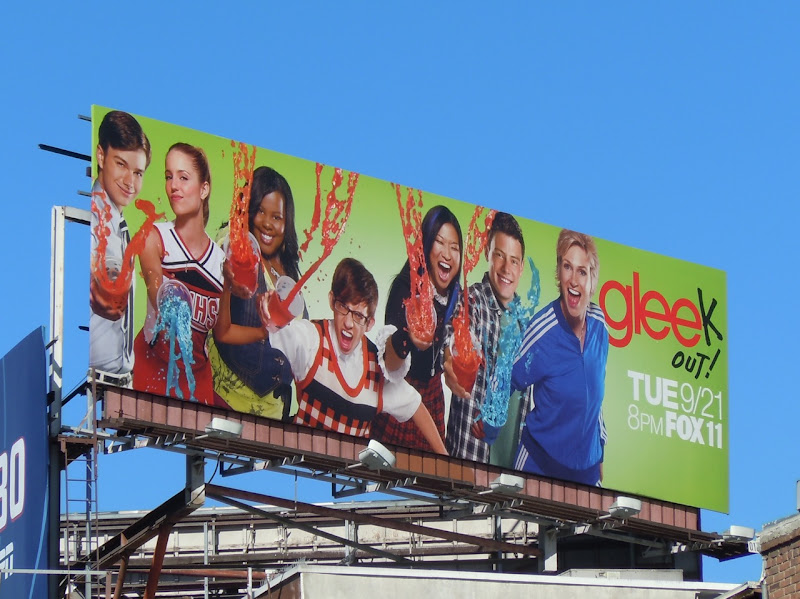 Gleek out TV billboard
