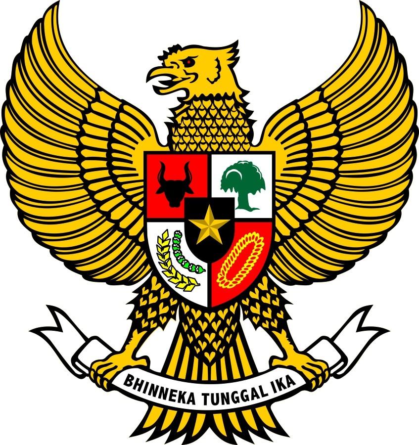 logo garuda pancasila emas