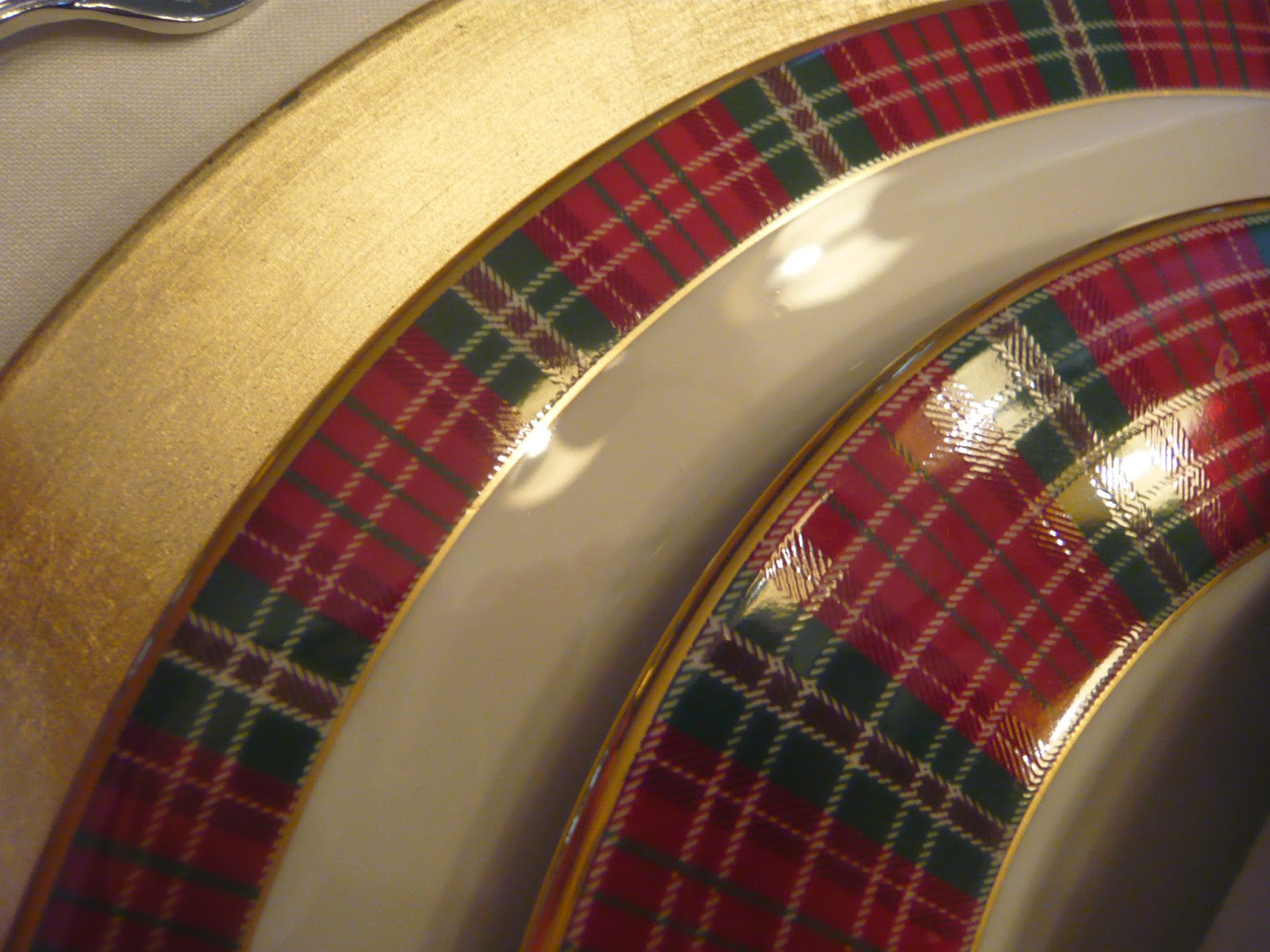 Dreams and epiphanies december 2014 i got to use my new christmas dishes winter greetings plaid just released this year by lenox now thats a rim shot m4hsunfo