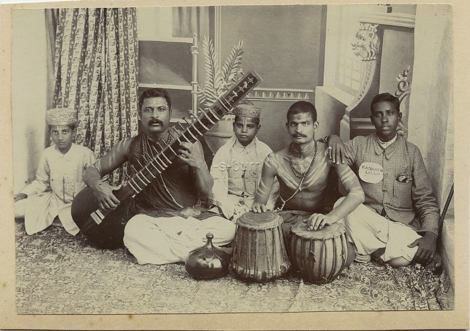 Group Photo of Indian Musicians - c1900's