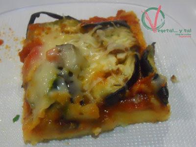 Pizza de polenta.