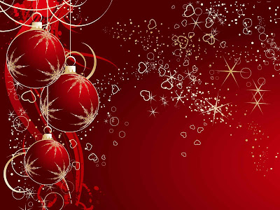 Bolas de navidad rojas, estrellas colores negro y rojo