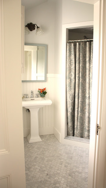 for the love of a house the guest bath details. Black Bedroom Furniture Sets. Home Design Ideas