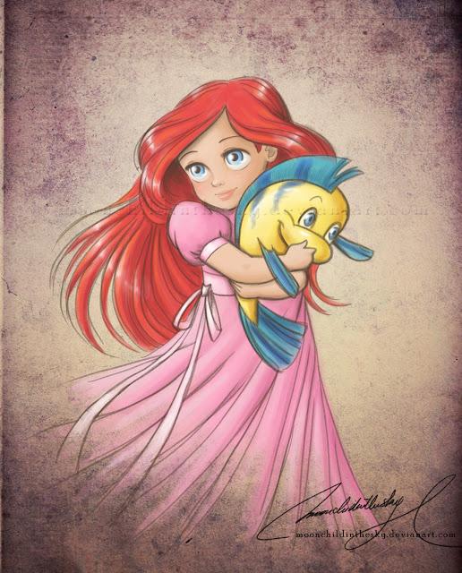 Принцессы Диснея - Страница 2 Child_ariel_by_moonchildinthesky-d3dw3sw