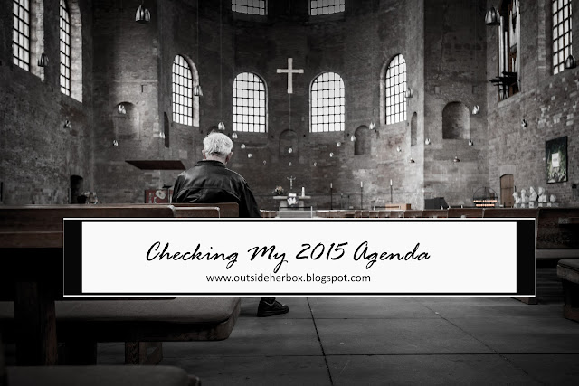 REVISITING MY 2015 AGENDA