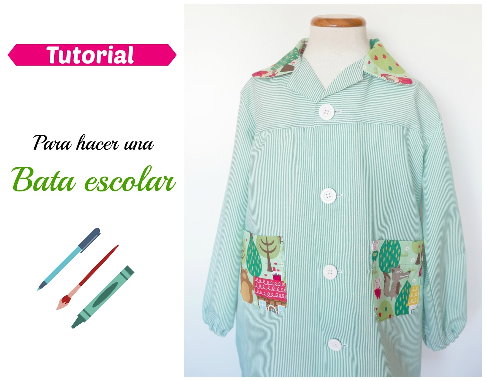Tutorial para hacer una bata escolar ~ Colours for Baby