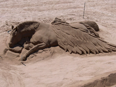Pegasus on the beach