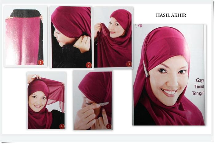 Berikut Cara Memakai Jilbab Pashmina Modern 2012 :