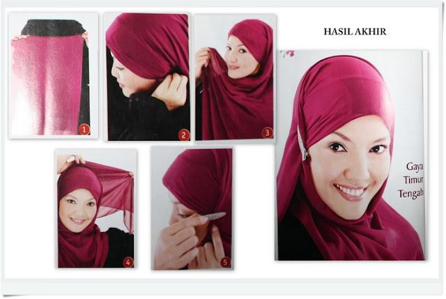 Cara Memakai Jilbab Pashmina Modern 2012