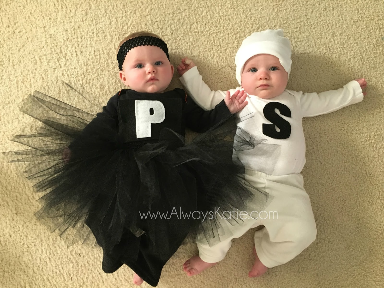 Always Katie Twin Halloween Costumes Salt and Pepper Shakers