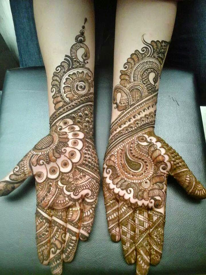 Mehndi Images For Bridal : Beautiful latest simple arabic pakistani indian bridal