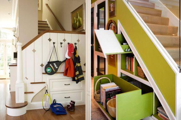 Muebles bajo la escalera ideas para decorar dise ar y for Como utilizar el espacio debajo de las escaleras