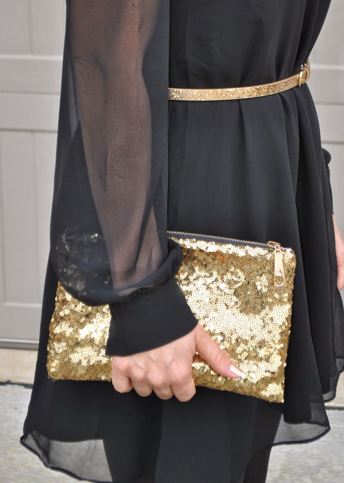 NYE 2014 PERFECT OUTFIT: GOLD, BLACK AND WHITE~STYLED BY SUNSHINE AND SEQUINS
