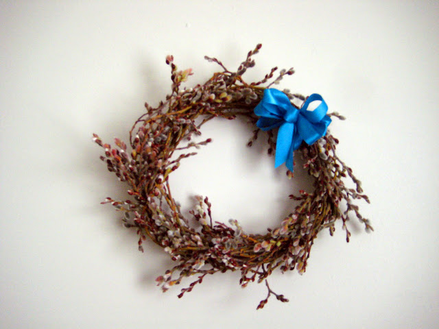 pussy willow spring wreath
