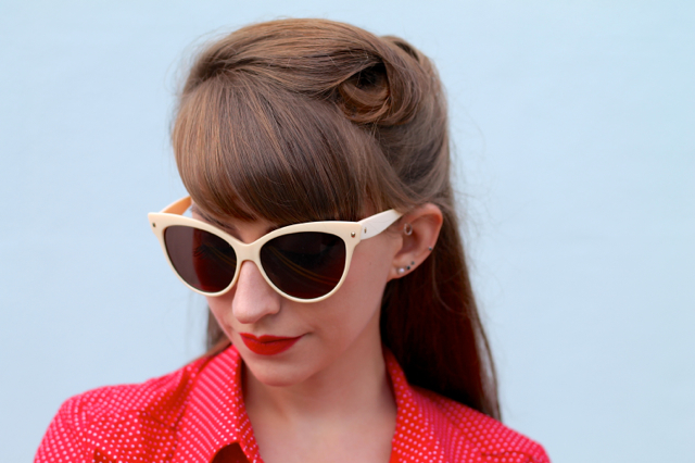 Collectif Leah sunglasses in cream