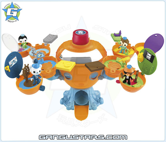 the Octonauts オクトノーツ Shellington Barnacles OctoPod On the Go Pod Fisher-Price toys シェリントン