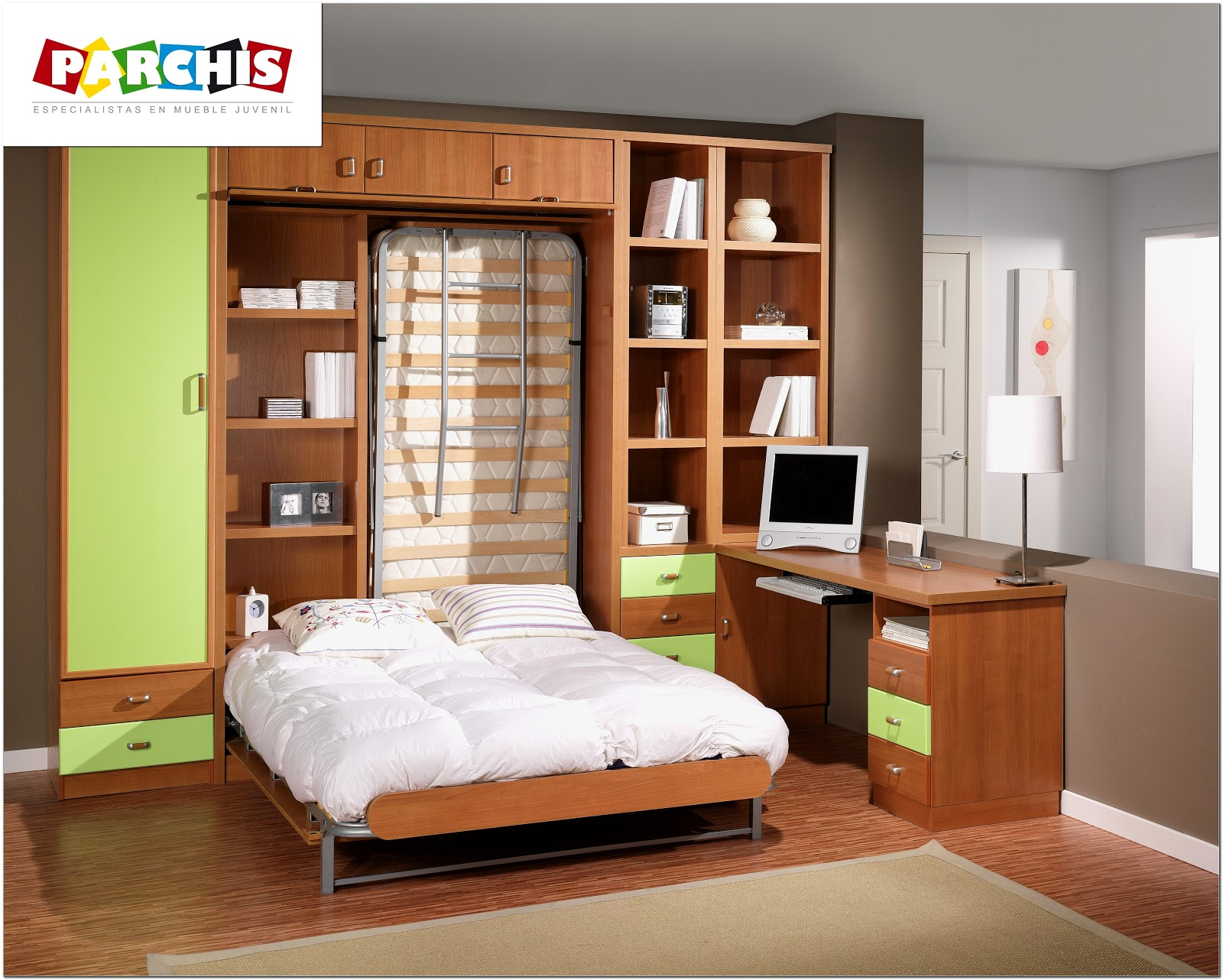 Camas abatibles dormitorios juveniles por parchis mueble for Muebles infantiles juveniles