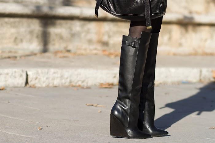 Maxi Botas con tacon de cuña de Zara
