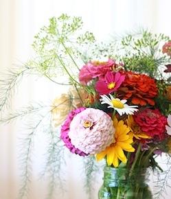 Garden dill in flower arrangement