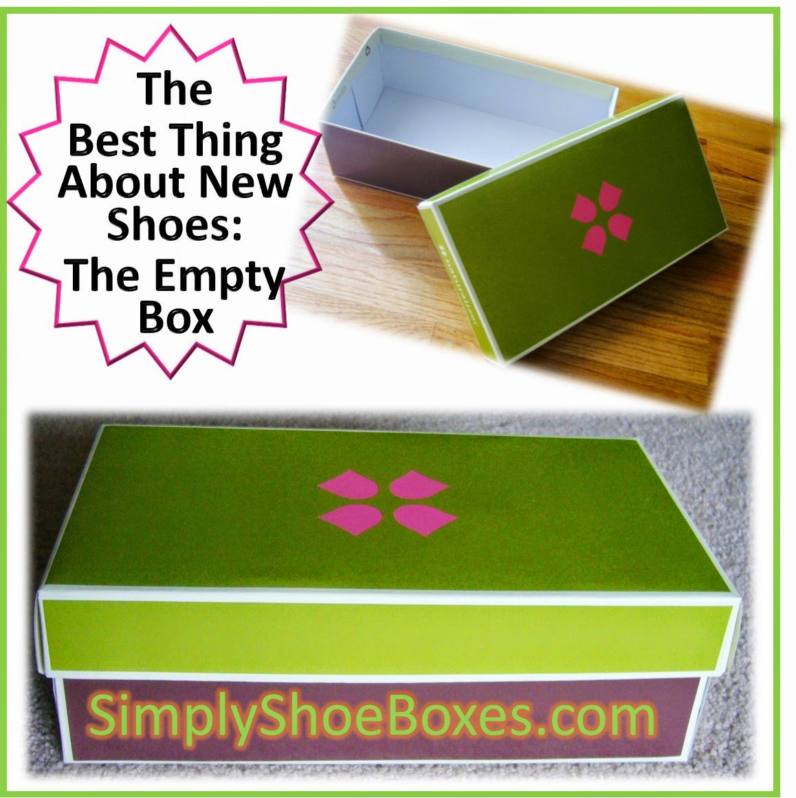 empty shoe box to fill for OCC