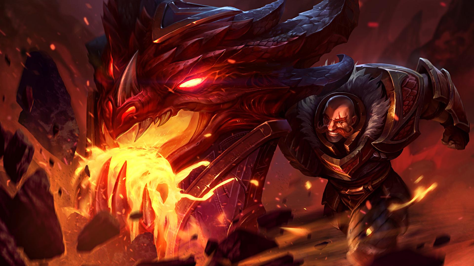 braum dragonslayer skin splash art league of legends lol hd game