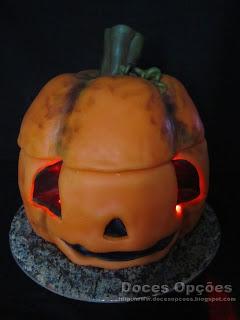 Bolo Abóbora de Halloween