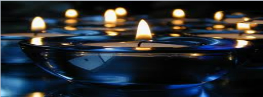 Blue Candle With Candles