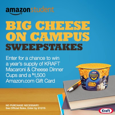 BIg Cheese on Campus Sweepstakes