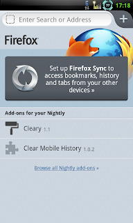 Firefox Alpha for ARMv6 devices