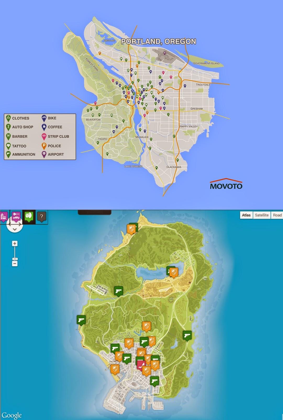 Grand Theft Auto VI akan bertempat di Portland?