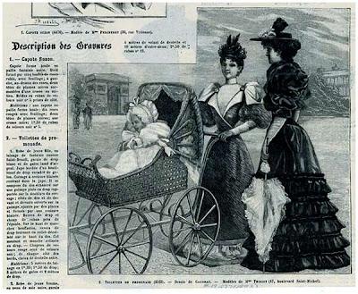 Capote suzon. Toilettes de promenade. Paris, 1893-1895.