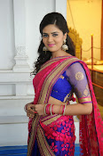 Sri Mukhi Gorgeous Half saree Photos-thumbnail-3