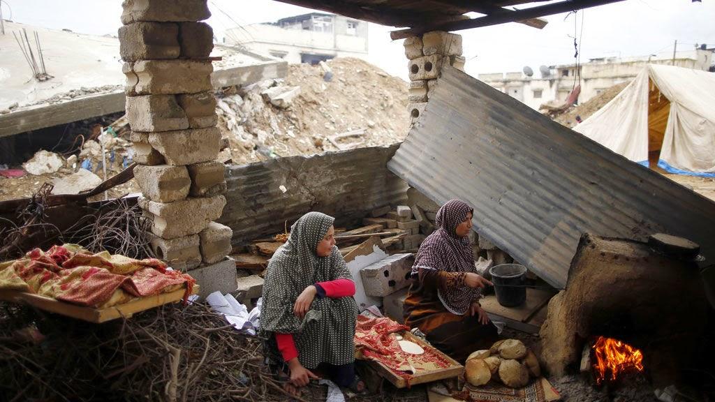Mais de 100 mil casas destruidas na Faixa de Gaza