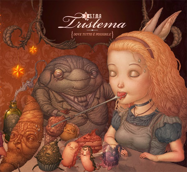 Felideus Bubastis Illustrations - Artwork for italian band Tristema