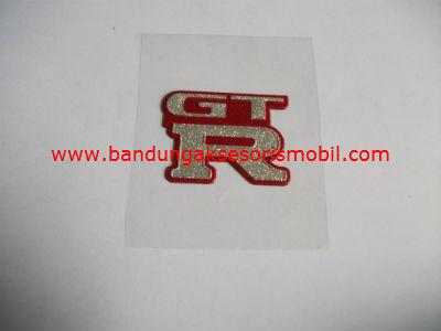 Emblem Metalic Kotak Kecil GTR
