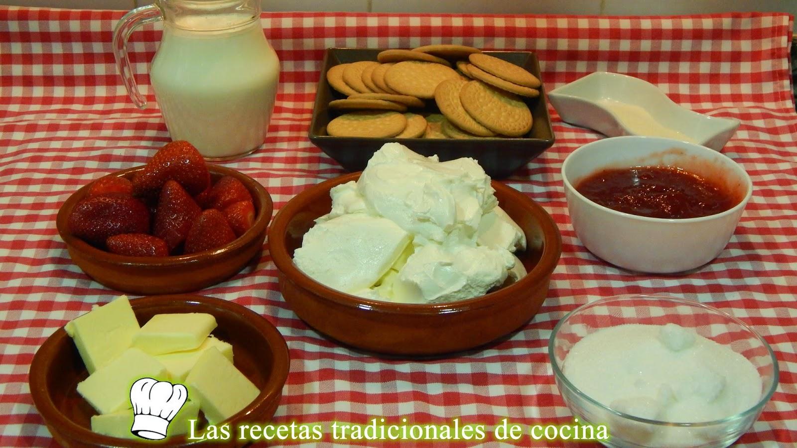 Receta fácil de queso y fresas