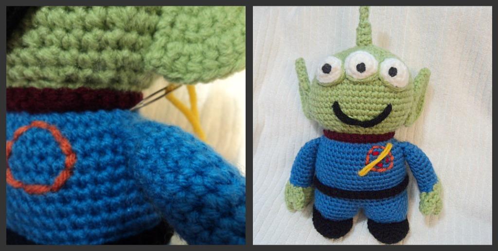 Amigurumi Toy Story : Alien LGM Free Crochet Pattern ~ Amigurumi To Go
