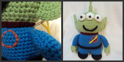 free crochet patterns: crochet alien lgm inspired by toy story