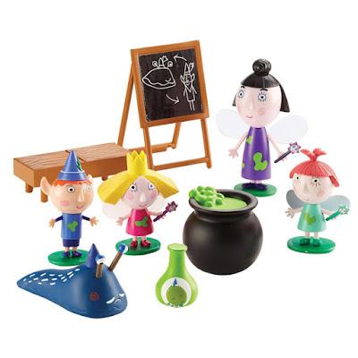 TOYS : JUGUETES - BEN & HOLLY  Clase de Magia | Magic Class Set  Pack 4 Figuras - Muñecos | Ben & Holly's Little Kingdom   Producto Oficial Serie Televisión | Bizak 64005292 | A partir de 3 años Comprar en Amazon España & buy Amazon USA
