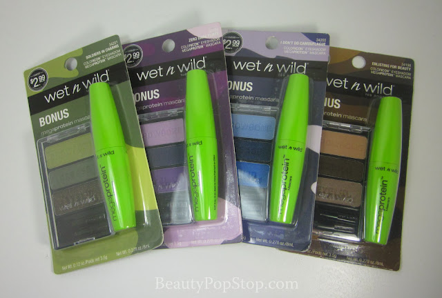 wet n wild color icon eyeshadow trios with bonus megaprotein mascara fall 2013 swatches and review